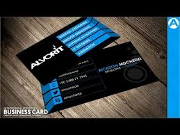Youtube Business Card Professional Business Card Design Blue 3d Project In Coreldraw