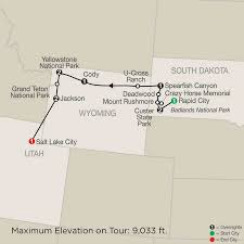 National Parks In Utah Map by 2017 Escorted National Parks Tours