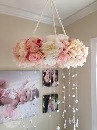 Pink Peonies Nursery Floral Mobile Nursery Mobile Vintage Rose Wreath Crib