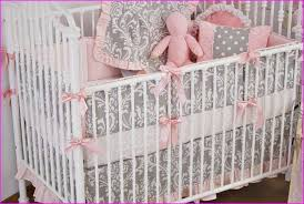 Grey And Yellow Crib Bedding Grey Pink And Yellow Crib Bedding Home Design Ideas