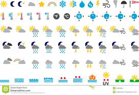 Weather Map Symbols Weather Symbols Stock Vector Image Of Buttons Signs 10762342