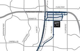 Dallas Dart Train Map by Location Cityline