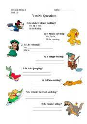 english worksheet present continuous yes no questions with disney