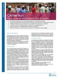 l est document cameroun analyse des marchés dans la région de l est et