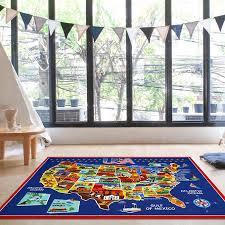 smithsonian ultimate usa map educational rug