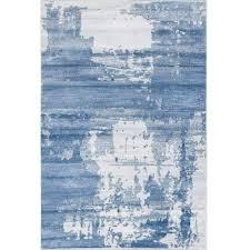 Modern Blue Rug Abstract Blue Rug Contemporary Area Rug Modern Blue Rug