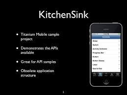 Titanium Appcelerator Sdk - Kitchen sink titanium