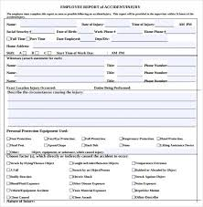 sample accident report 12 documents in word pdf