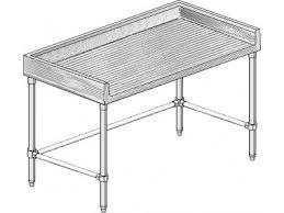 MTGBX Maple NSF Listed Worktable With  Backsplash On Three - Stainless steel table with backsplash