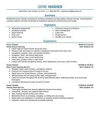 100 resume for hospital housekeeping job janitorial