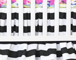 striped crib skirt etsy