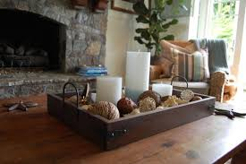 coffee table decorations coffee table decor candles fill the tray with a variety of items