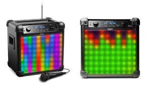 ion bluetooth speaker with lights ion audio tailgater flash bluetooth speaker with lights refurbished