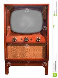 set de table vintage old retro vintage tv console set fifties isolated stock images