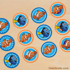 nemo cake toppers printable finding nemo cupcake toppers