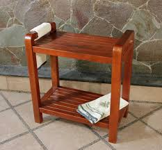 Stool For Bathroom Furniture Outstanding Picture Of Square Solid Oak Wood Steel