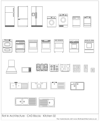 bloc autocad cuisine free cad blocks kitchen appliances 02 in architecture