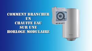 Schema Contacteur Heure Creuse by Comment Brancher Un Chauffe Eau Sur Une Horloge Modulaire Youtube