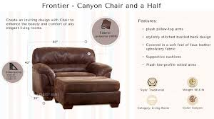 frontier casual canyon faux leather wood chair and a half the