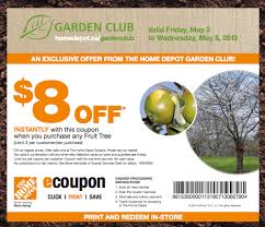 the home depot canada garden club coupons save 8 on any fruit