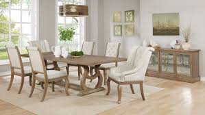 glen cove weathered extendable rectangular dining room set by