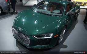 Audi R8 Green - nyias 2016 this audi exclusive goodwood green r8 v10 plus is our