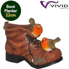 arts garden friends robin boot planter 22cm birstall