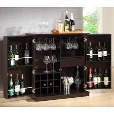 Folding Bar Cabinet Baxton Studio Stamford 12 Bottle Dark Brown Bar Cabinet 28862 4107