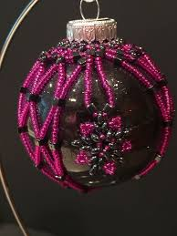 Pink Butterfly Christmas Decorations by 1626 Best Beaded Ornaments Images On Pinterest Beaded Christmas