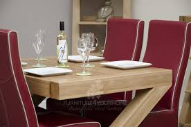 Large Dining Table Z Solid Oak Designer Large 6 Seater Dining Table Furniture4yourhome