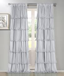 White Ruffled Curtains by Dainty Home Silver Festival Ruffle Curtain Panel Zulily