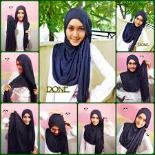 tutorial hijab pashmina kaos yang simple 24 gambarnya tutorial hijab pashmina pendek tahun 2017 tutorial