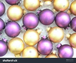 background gold purple tree ornaments stock photo