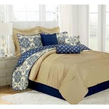 Best 10 Blue Comforter Sets by Patina Blue Queen Microfiber 10 Piece Comforter Set Mf75p04cmfs