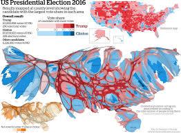 cartogram map u s presidential election cartogram the map room