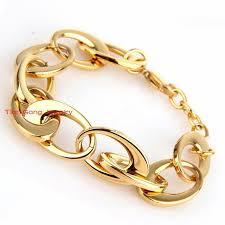 gold tone chain link bracelet images Buy hot selling fashion modern female 39 s bracelets jpg