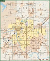 Oklahoma City Zip Code Map by Tulsa Metro Map Digital Vector Creative Force