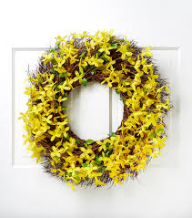 forsythia wreath artificial forsythia wreath 22 by blooming joann