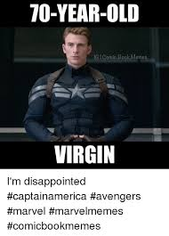 Captain America Meme - 70 year old ig comic book memes virgin i m disappointed