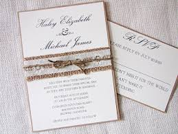 country chic wedding invitations rustic wedding invitation burlap wedding invitation lace wedding