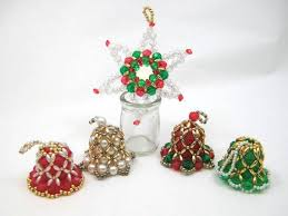 41 best beaded bell ornaments images on beading