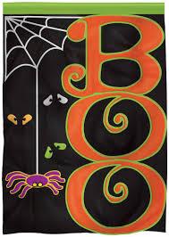 halloween rug boo halloween double sided decorative flag