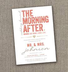 morning after wedding brunch invitations the morning after wedding brunch invitation diy brunch invite