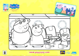 peppa pig colouring pages pdf printable coloring download free