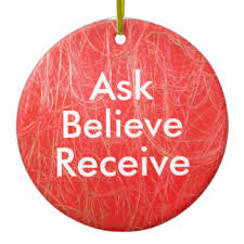 ask believe receive ornaments keepsake ornaments zazzle
