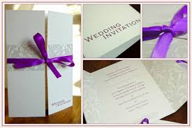 wedding invitations with ribbon wedding invitations with purple ribbon badi deanj