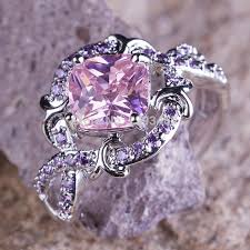 silver coloured rings images 25 best rings with pink stones images pink stone jpg