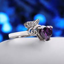 heart fashion rings images Fashion rings women luxury heart platinum plated alloy zircon party jpeg