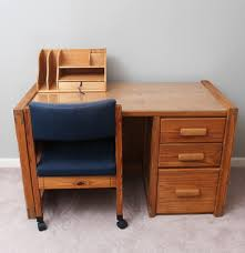 pine desk and chair by cargo furniture with desk organizer ebth