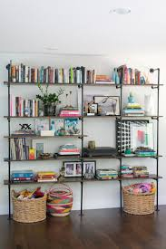 Steel Pipe Shelving by Best 25 Pipe Bookshelf Ideas On Pinterest Diy Industrial